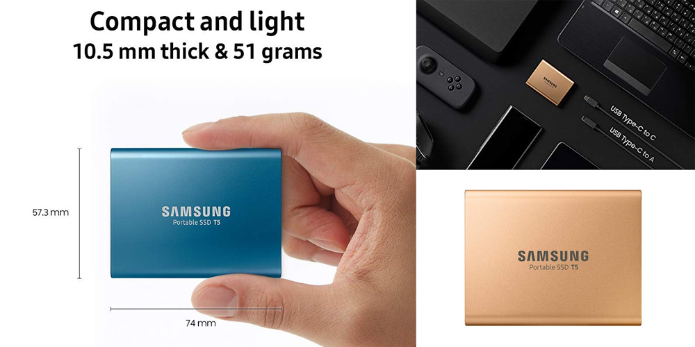 Samsung T5 external ssd fast speed